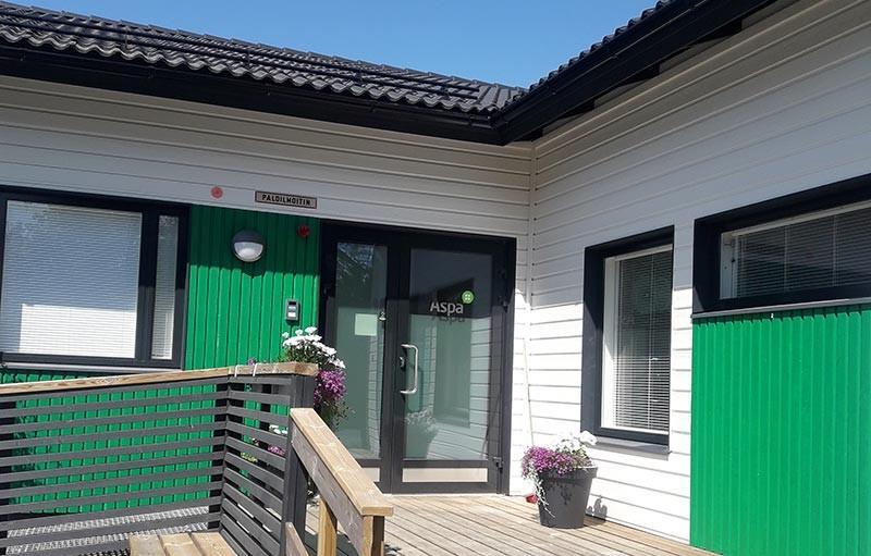 Aspa-koti Lumme sijaitsee rivitalossa Loimaalla.