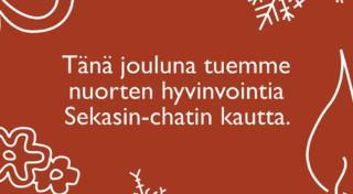 Tänä jouluna tuemme nuorten hyvinvointia Sekasin-chatin kautta.
