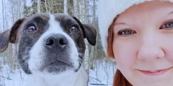 Bambu-koira ja Teija.